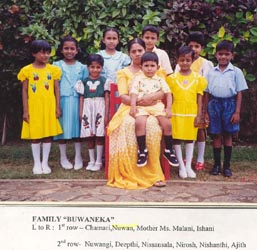 Nuwan on fostermother's lap - 3 years old
